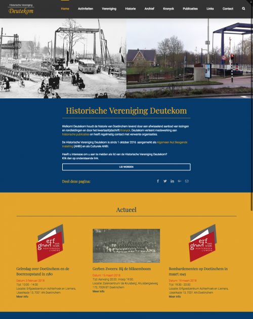 Website Deutekom Historie Home